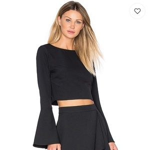 Kendall and Kylie Bell Sleeve Crop Top